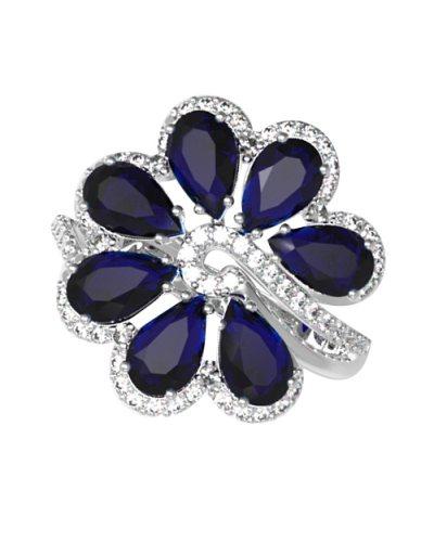 "Серебряное кольцо ""Цвет любви"""