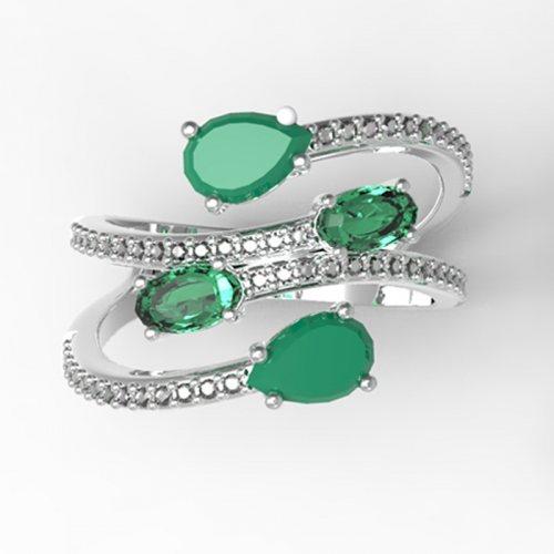 Камень: Зеленый кварц и агат