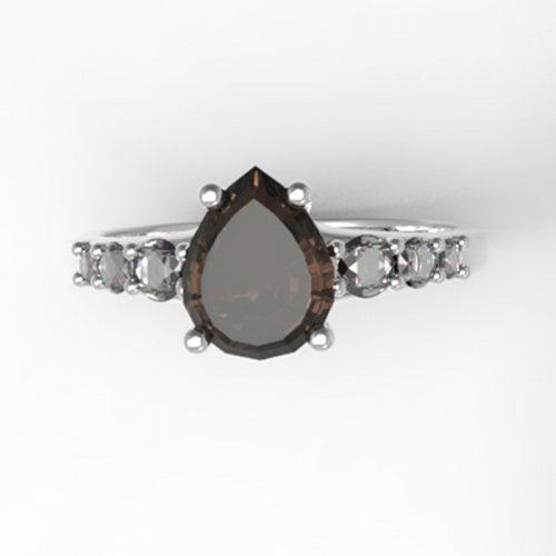 """Серебряное кольцо """"Элизабет"""""""