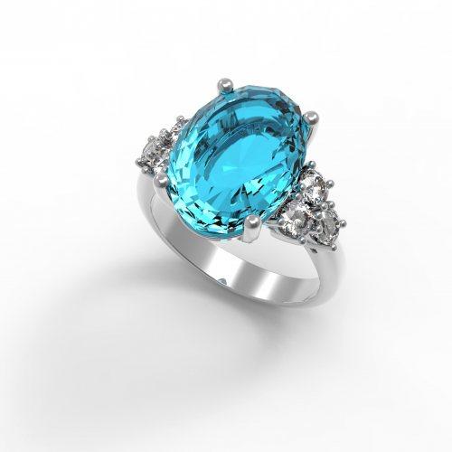 """Серебряное кольцо """"Каталина"""""""