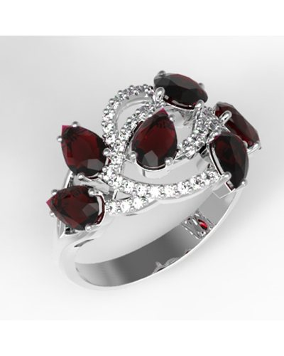 """Серебряное кольцо """"Великолепие"""""""