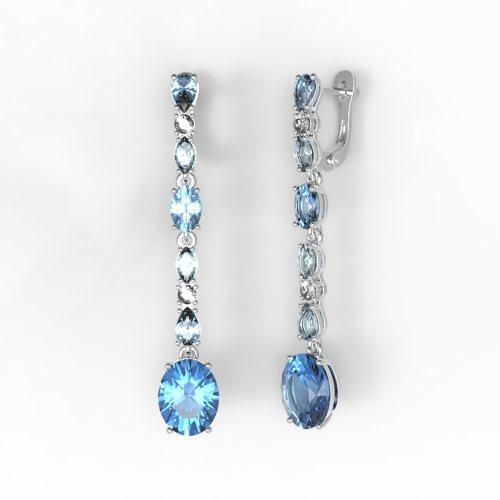 Камень: Кварц London blue + Swiss
