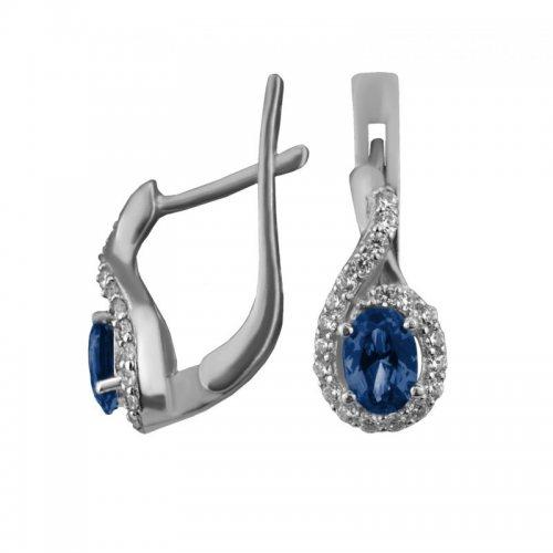 Камень: СапфирКамень: Кварц London blue