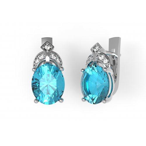 Камень: Кварц Swiss blue